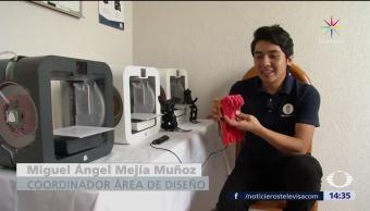 Niños, mutilados, prótesis 3D, Hidalgo