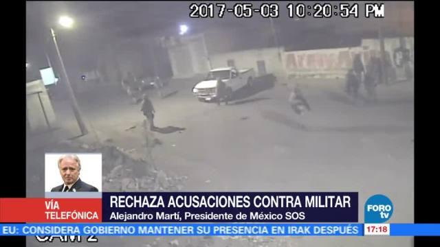 Alejandro Martí, presidente de México SOS, rechaza acusaciones, contra militar