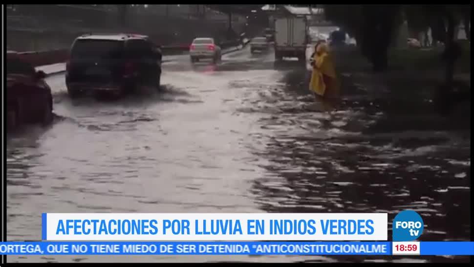 noticias, forotv, Lluvias, inundaciones, estaciones del Metro, Lindavista e Indios Verdes