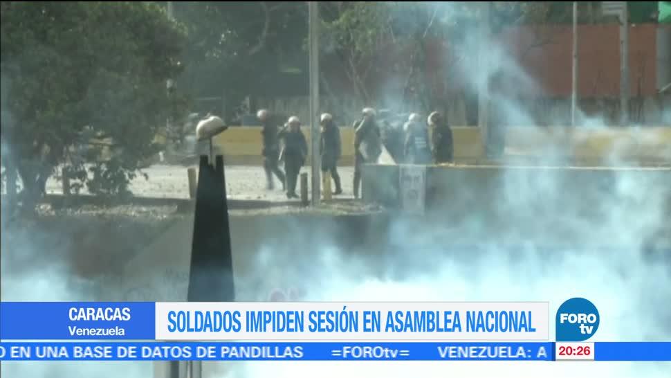 noticias, forotv, Soldados, impiden sesión, Asamblea Nacional, Venezuela