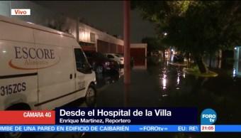 noticias, forotv, Hospital de la Villa, opera con normalidad, intensas lluvias, CDMX