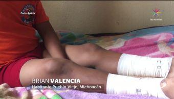 noticias, forotv, Niño, resulta quemado, grieta, Michoacán