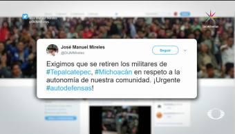 noticias, televisa, Enfrentamiento, Tepalcatepec, Michoacán, Elementos del Ejército