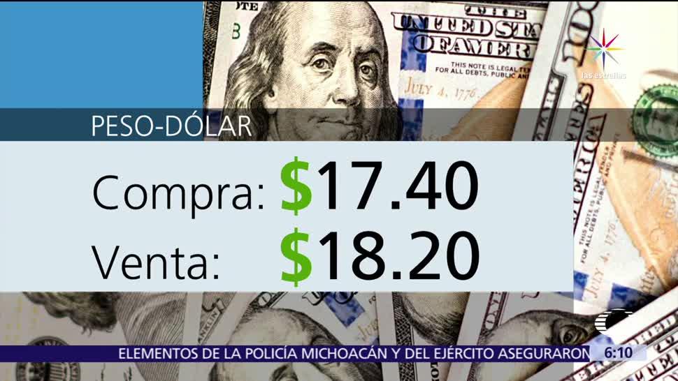 noticias, televisa, dólar, vende en18.20, cotizó, ventanillas bancarias