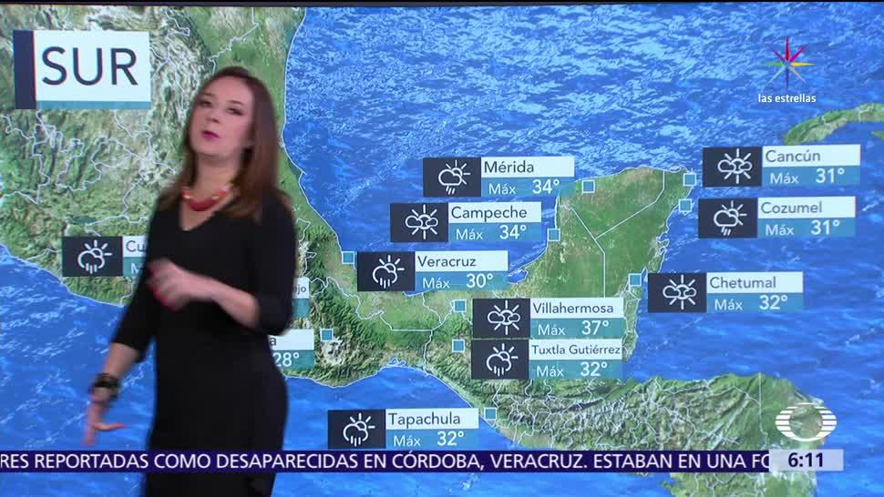 noticias, televisa, Onda tropical 13, generará lluvias, centro, occidente del país