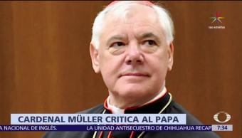 noticias, televisa, Cardenal Müller, critica el trato, papa Francisco, empleados del Vaticano