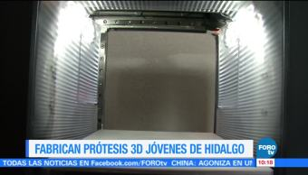 Good News en Express, Jóvenes fabrican, prótesis 3D, Hidalgo