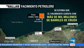 Hallan, yacimiento de petróleo, costas de Tabasco