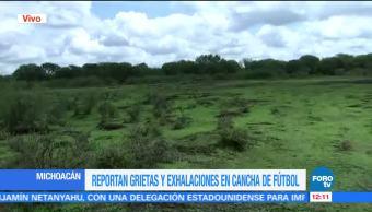 Aumenta el área de grietas, Michoacán, Pueblo Viejo
