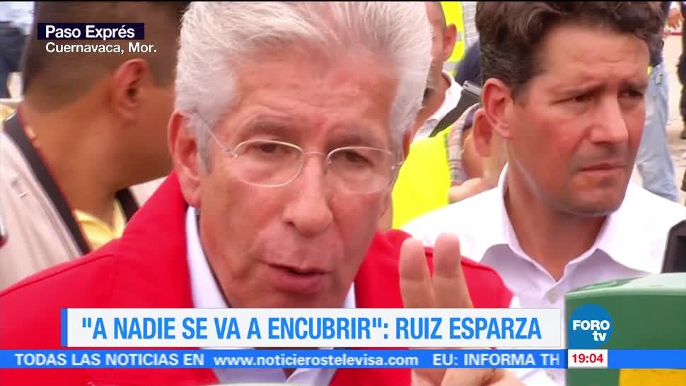Ruiz, Esparza, a nadie, se va a encubrir, socavon, paso express