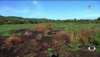 Crece, área, grietas, Michoacán, presunto, volcán