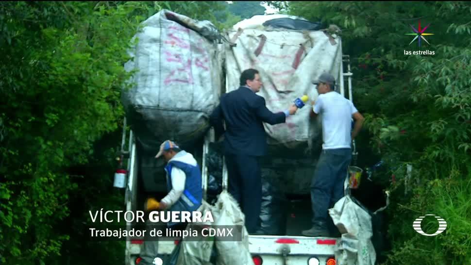 Cuajimalpa, camión, basura, pasa, una vez, semana