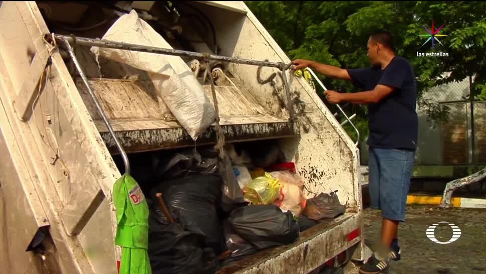 Colima, ejemplo, recolección, basura, camiones, recolectores