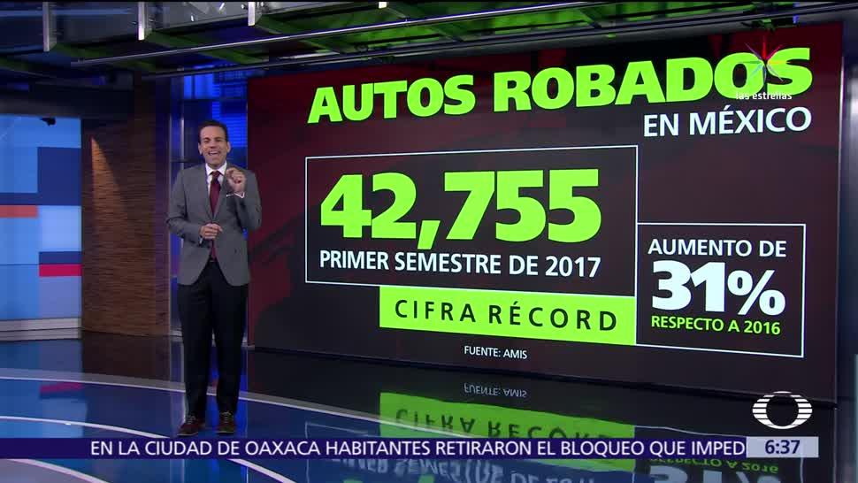 noticias, Televisa, Roban, 40 mil autos, México, durante 2017