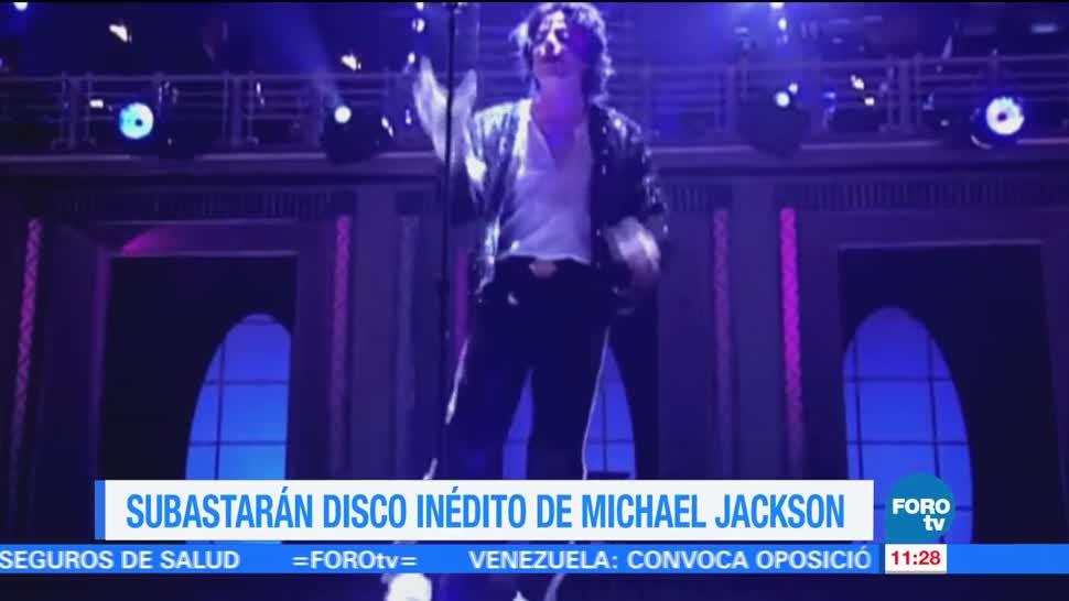 noticias, forotv, Subastarán, disco inédito, Michael Jackson, subasta