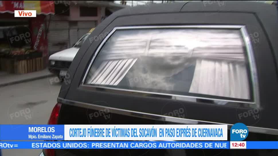 noticias, forotv, Cortejo fúnebre, víctimas, socavón, Paso Express de Cuernavaca