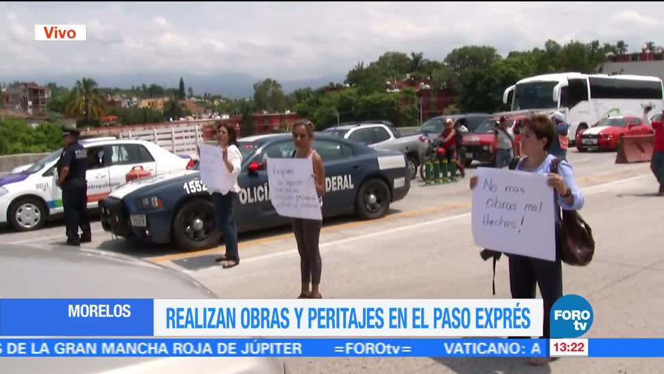 noticias, forotv, Vecinos, protestan, Paso Express, Cuernavaca