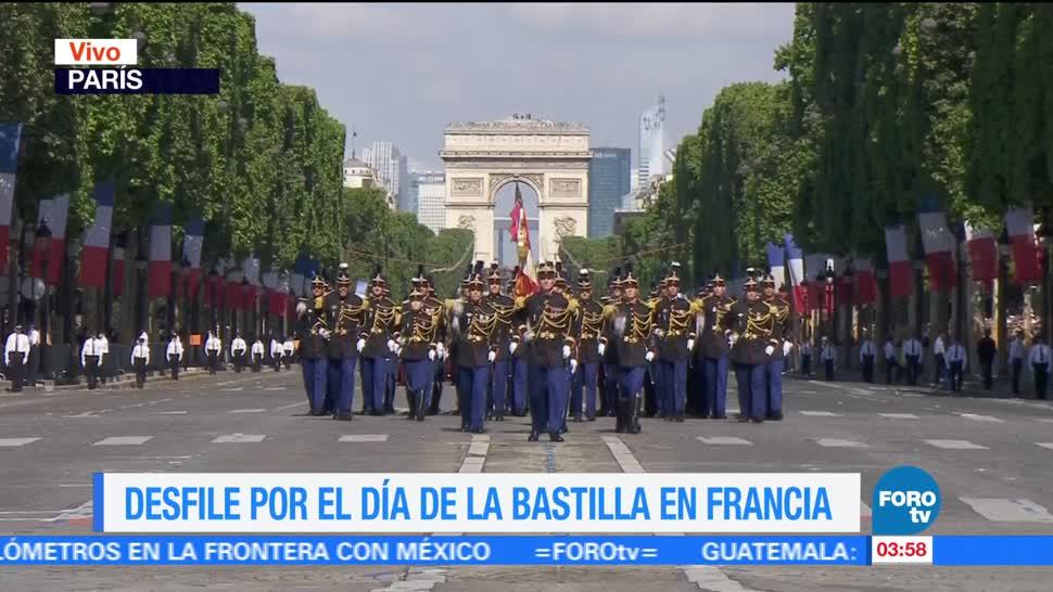 noticias, forotv, Realizan, desfile militar, Día de la Bastilla, Francia