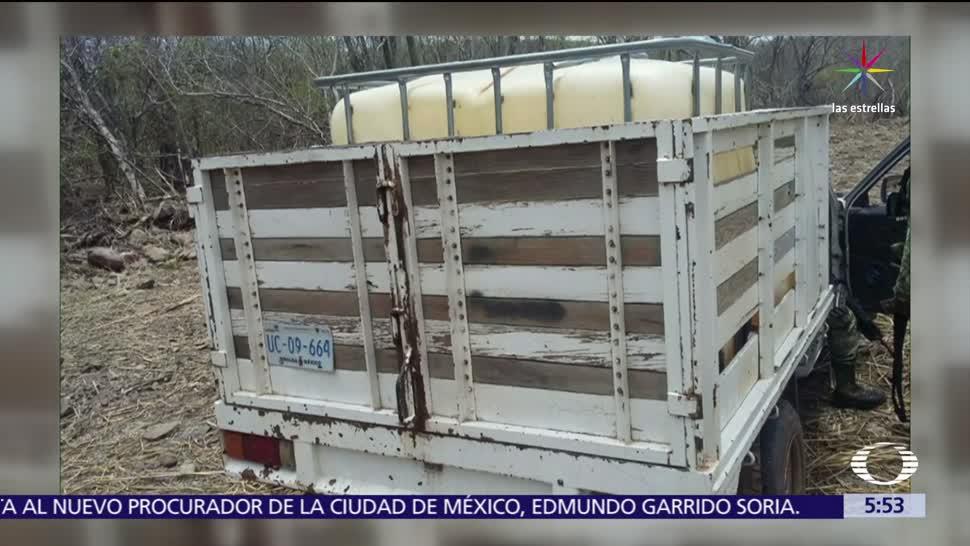 noticias, forotv, Sedena, decomisa, 5 mil litros de combustible, Sinaloa