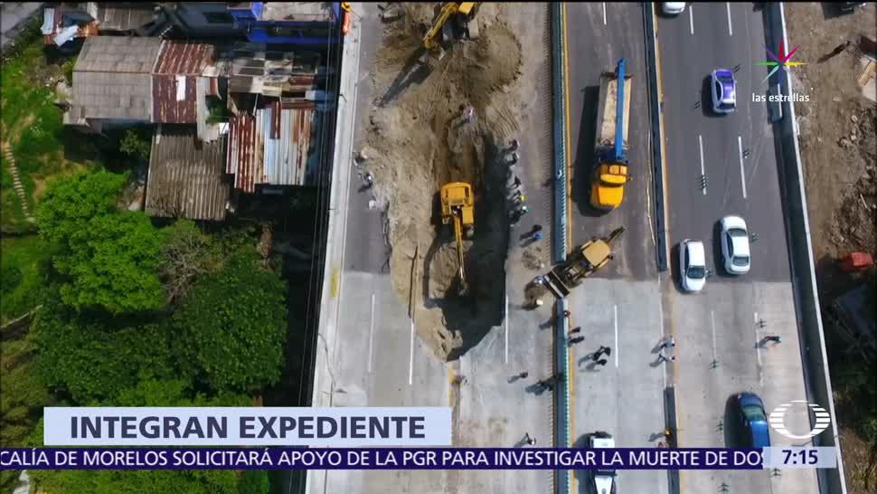 noticias, televisa, Secretaría, Función Pública, investiga, socavón del Paso Express