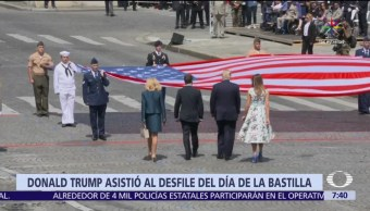 noticias, teelvisa, Trump, asiste al desfile, Día de la Bastilla, París