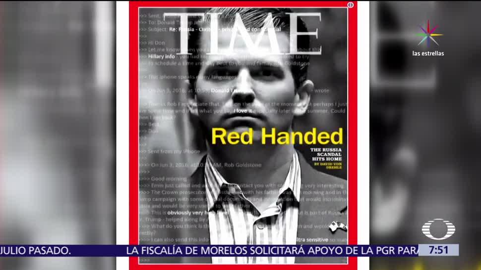 noticias, televias, Revista, TIME, dedica portada, Donald Trump Jr.