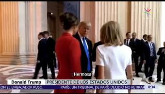 noticias, televisa, Trump, halaga figura, primera dama, Francia