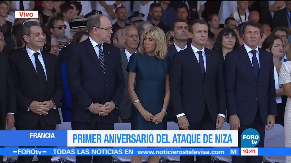 noticias, forotv, Conmemoran, primer aniversario, atentado en Niza, Francia