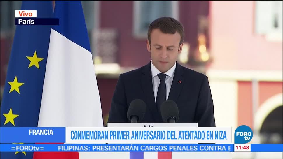 noticias, forotv, Gracias a ustedes, Nación está de pie, Macron, víctimas de Niza