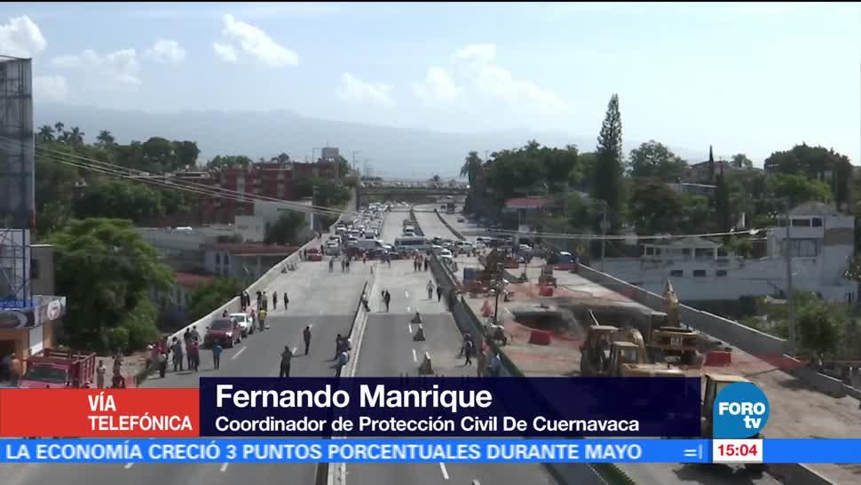 Fernando Manrique, coordinador de Protección Civil de Cuernavaca, Paso Express