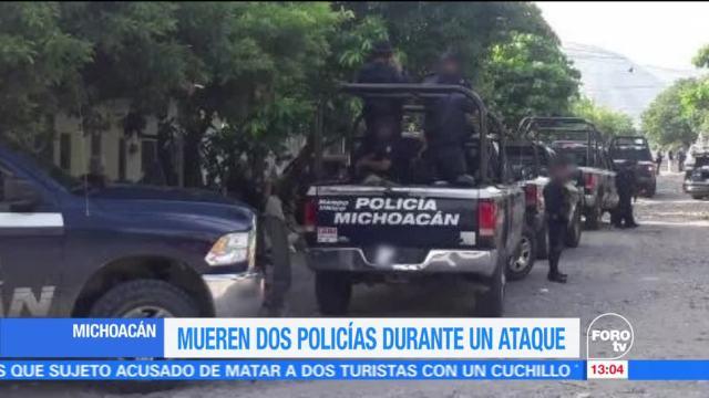 Mueren, dos policías, ataque, Michoacán