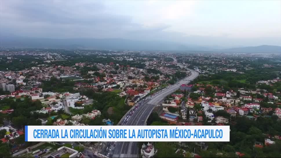 Mantienen, cierre total, autopista, México – Acapulco, socavón, paso express