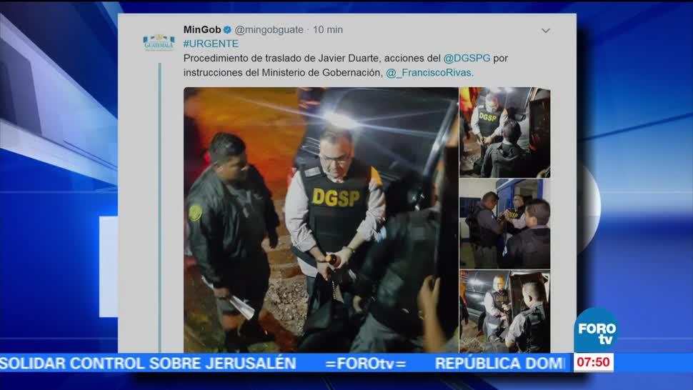 exgobernador de Veracruz, Javier Duarte, prisión de Matamoros, Fuerza Aérea, Guatemala