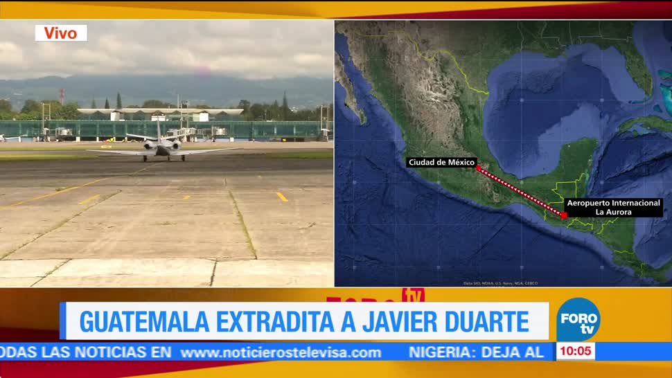 Secretaría de Relaciones Exteriores, proceso de extradición, Javier Duarte, Guatemala