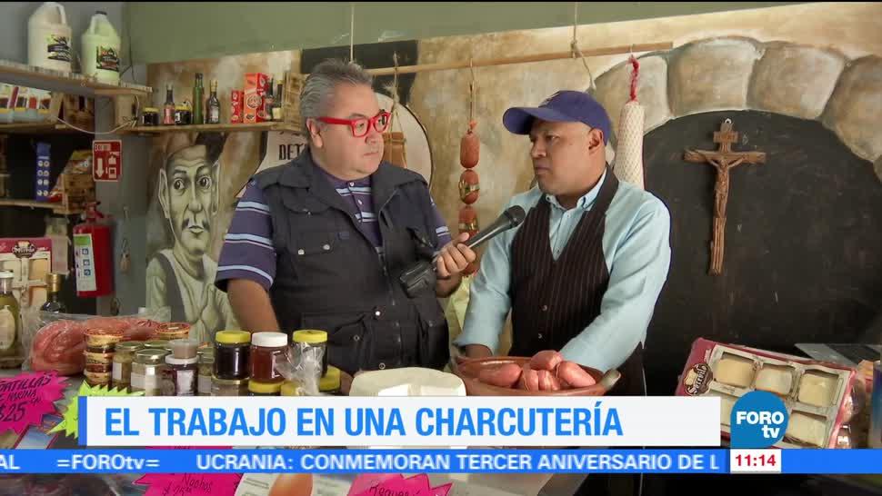 Enrique Muñoz, reportaje, charcutería, presenta