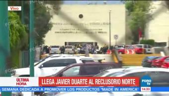 Llega, Javier Duarte, Reclusorio Norte, CDMX