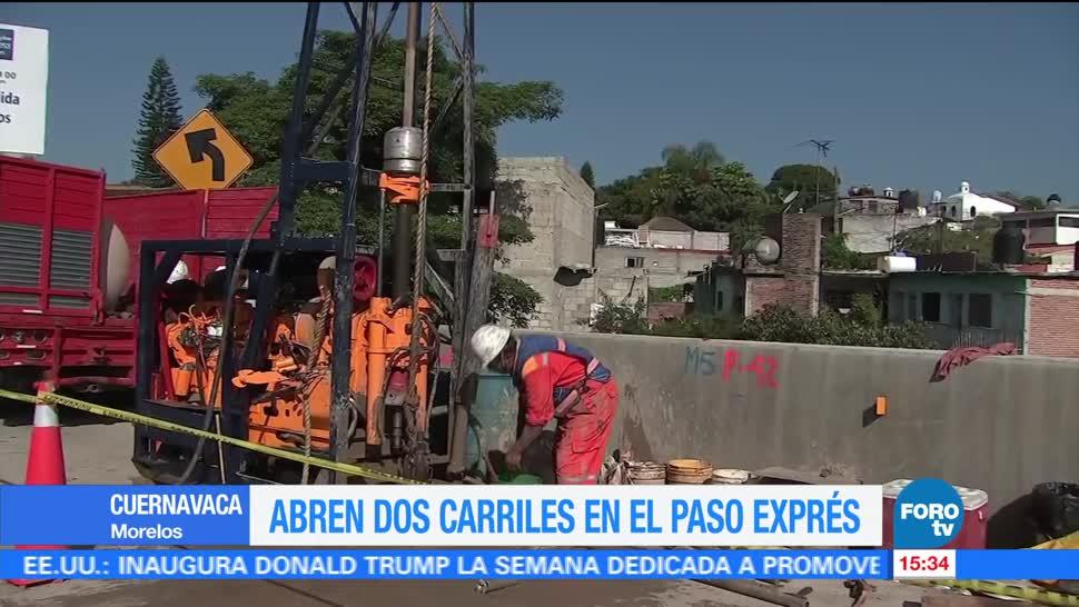 Abren, dos carriles, Paso Express, Cuernavaca