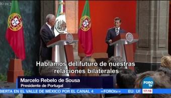 Recibe, Peña Nieto, Portugal, Marcelo Rebelo de Sousa