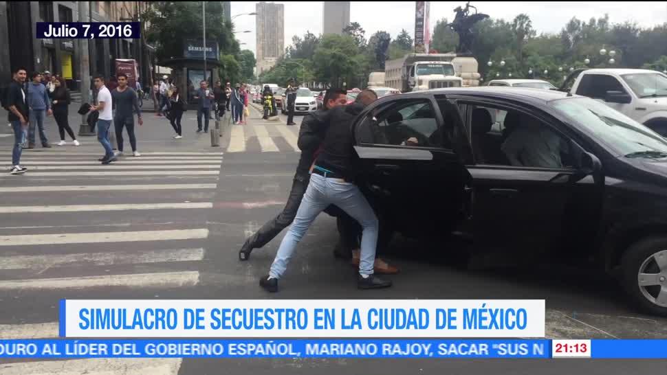 noticias, forotv, Simulacro de secuestro, Ciudad de México, secuestro, Mensajeros Urbanos