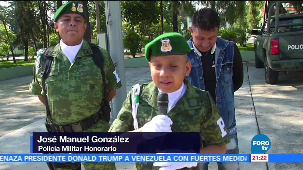 noticias, forotv, Niño, cumple su sueño, convertirse, policía militar