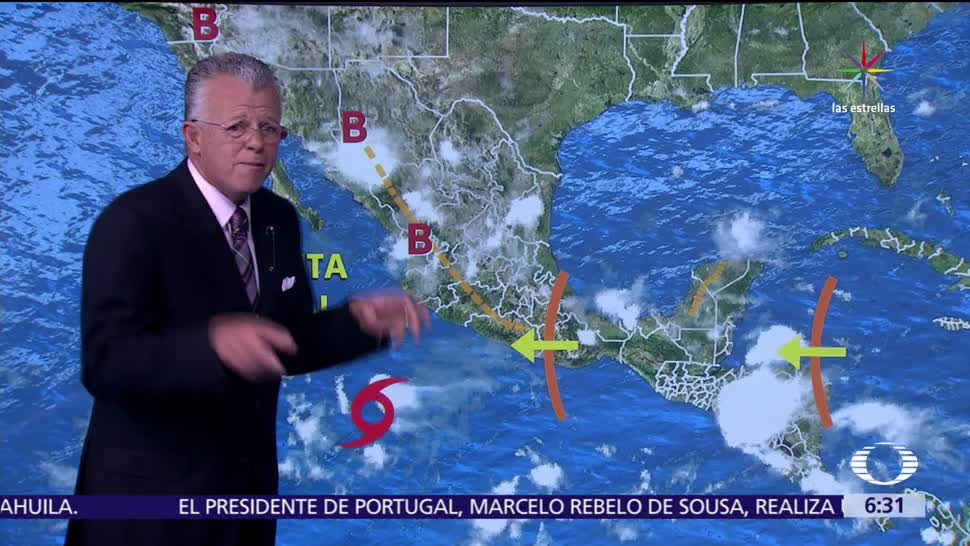 potencial de lluvias, territorio nacional, onda tropical, diferente intensidad
