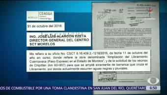 Graco Ramírez, gobernador de Morelos, SCT, falla del Paso Express