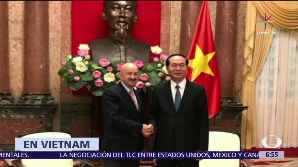 expresidente Carlos Salinas de Gortari, visita Vietnam, presidente Tran Dai Quang, TLC