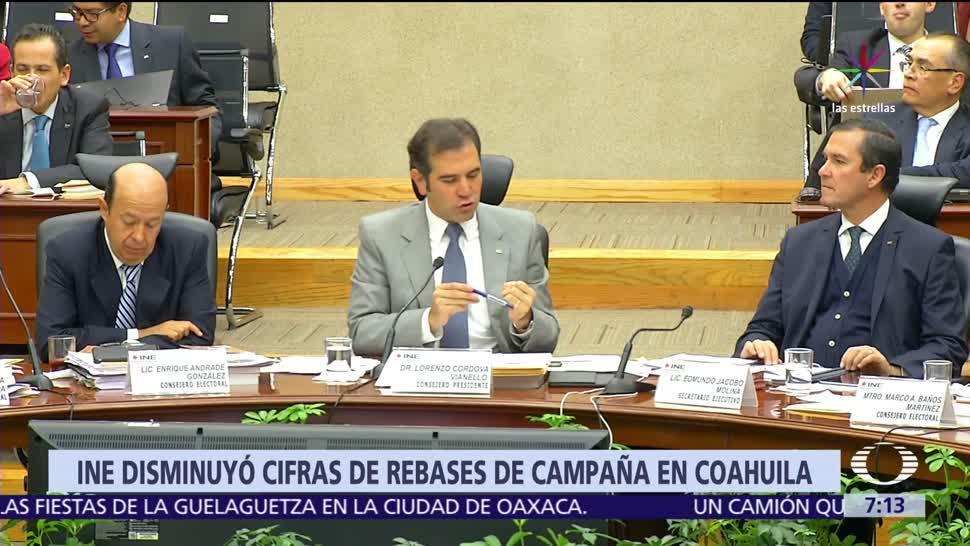 Instituto Nacional Electoral, partidos políticos, gastos, elección en Coahuila