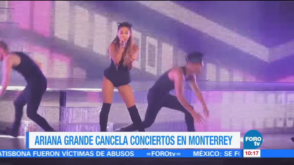 cantante Ariana grande, conciertos en Monterrey, martes, miércoles