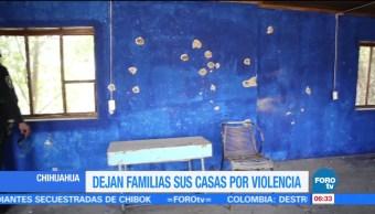 Chihuahua, violencia, familias, viviendas en Madera