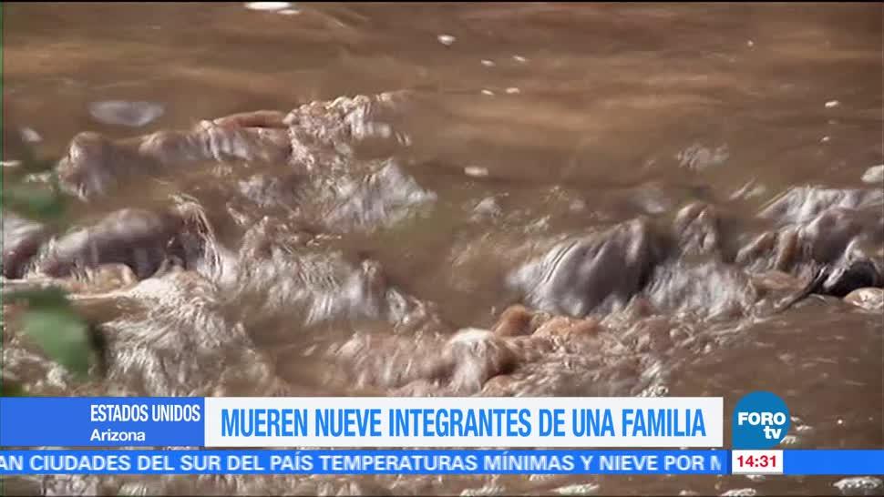 Mueren, integrantes familia, Arizona, inundaciones