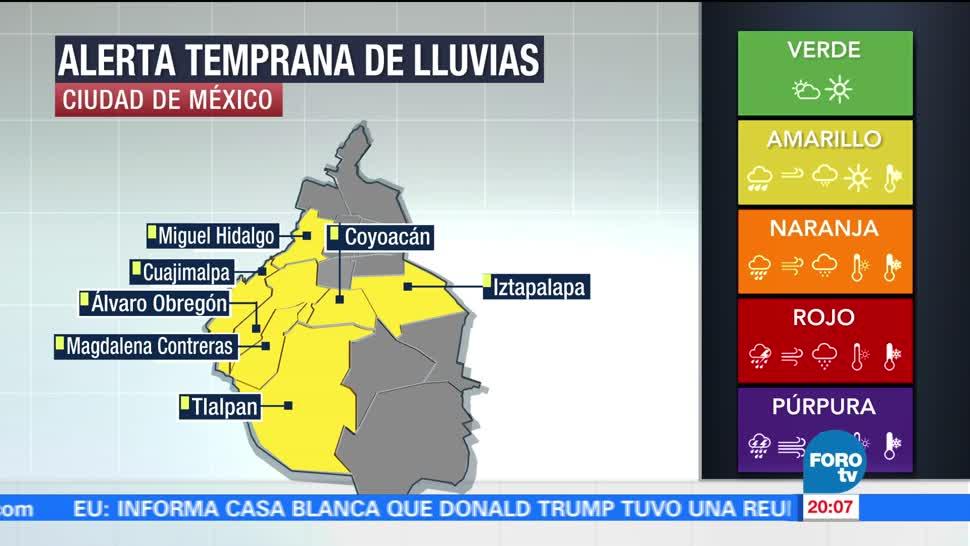 noticias, forotv, Gobierno, CDMX activa, alerta amarilla, lluvias