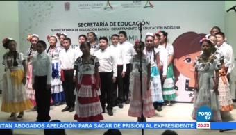 noticias, forotv, Primarias, Campeche, concurso, Himno Nacional en maya