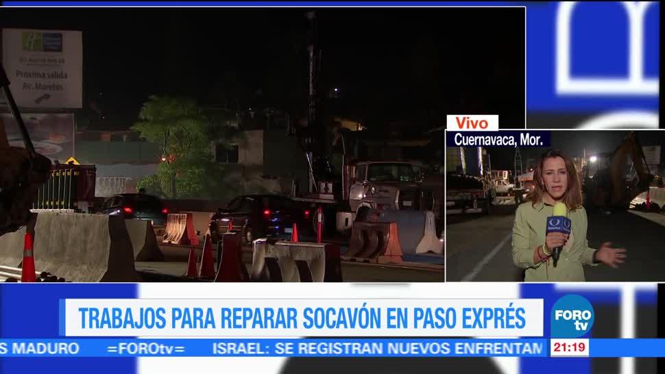 noticias, forotv, Siguen, reparaciones, Paso Express, Cuernavaca